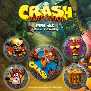 Sada placek Crash Bandicoot