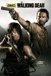 Plakát The Walking Dead - Daryl Dixon a Rick Grimes